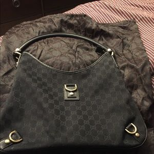 Monogrammed Gucci Shoulder Bag